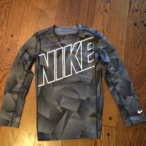 Boys Large Nike-Pro compression Dri fit shirt